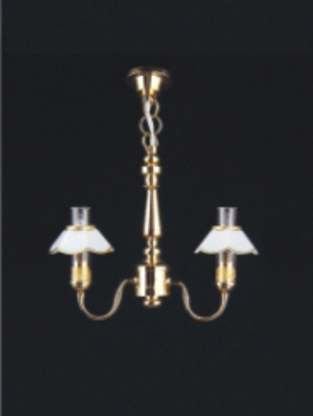 2 up-arm chandelier. Miniature dollshouse light. 6005